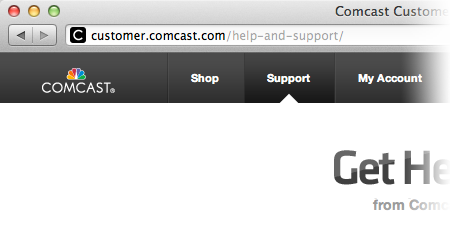 Comcast Help and Support